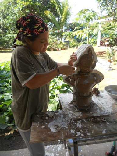 "The Making of Balboa."" In my first year of Art School, skipping classes to go and learn in the Atelier Sculptor Jorge Calderon. Aguadulce, Cocle, Rep. Panama. 2011."